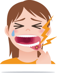 Girl-Mouth-Ulcer-problem